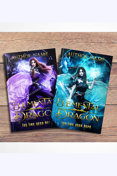 Elemental Dragon 2 book covers set