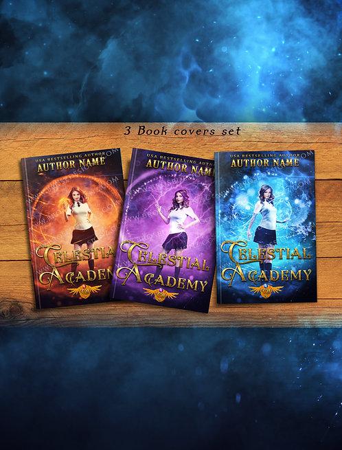 Celestial academy  3 book covers Set