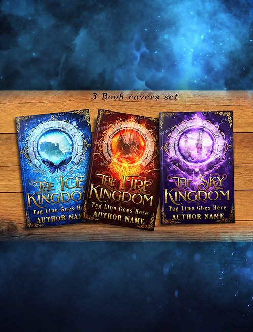 Kingdoms 3 book covers set
