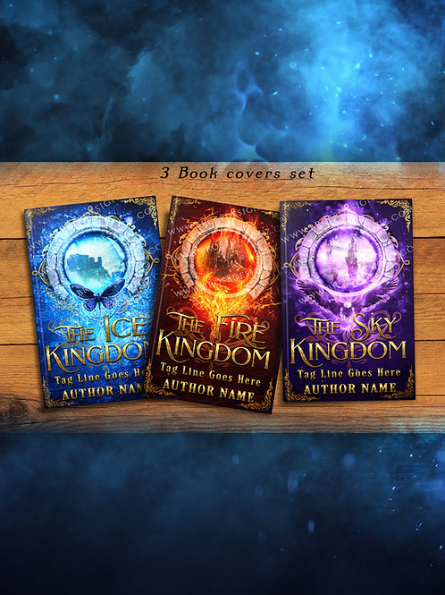 Kingdoms 3 book covers set