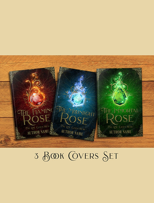 The Rose 3 book covers Set