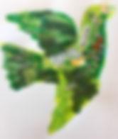 hArt. Dove. Created at Women's Art Exchange (WAX)