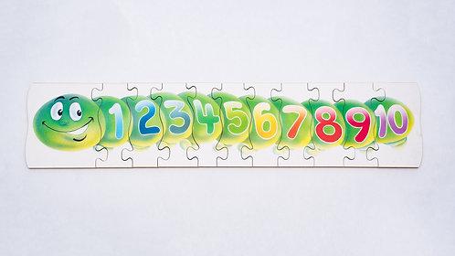 Caterpillar Number Jigsaw
