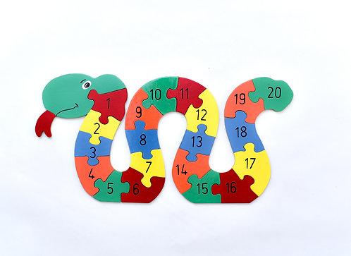 Large numbers snake jigsaw