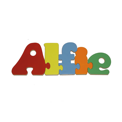 Multi-coloured Personalised Name Jigsaw Puzzle