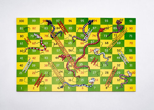 Snakes and Ladders Jigsaw Game