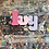 Thumbnail: Pink and Lilacs Personalised Name Jigsaw Puzzle