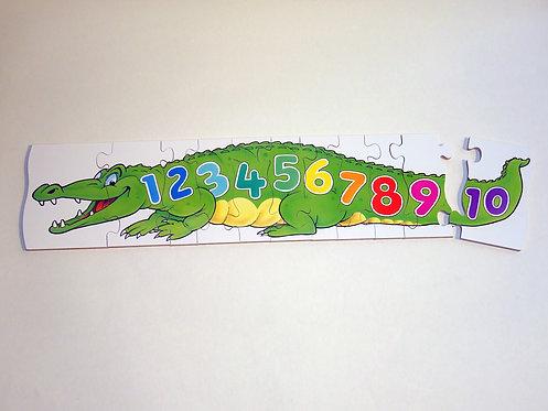 Crocodile Numbers Jigsaw