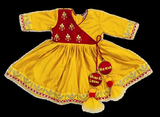 Vibrant Dress with Latkans