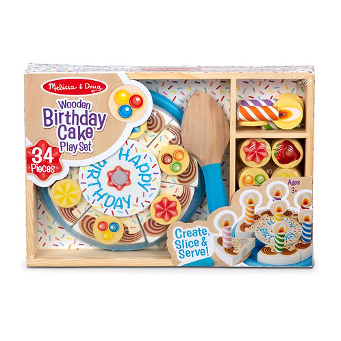 Melissa & Doug - Wooden Birthday Cake playset