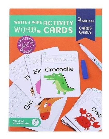 Mideer Write & Wipe Activity Cards - Words