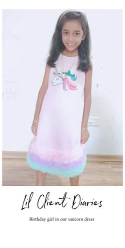 Pink Unicorn A-line Dress