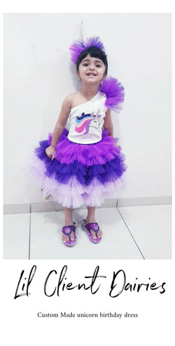 Purple Unicorn Crop top and Skirt