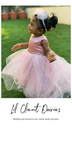 Pink Pearl High Low Gown