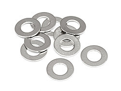 Z694 WASHER M5*10*0.5MM SILVER 10PCS