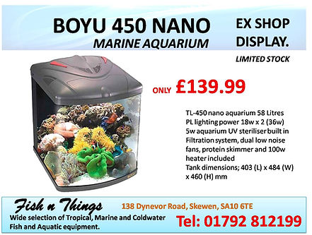 BOYU 450 NANO MARINE Aquarium OFFER