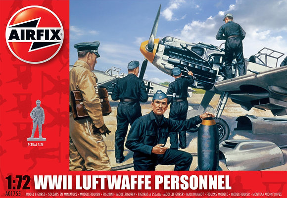 A01755 WWII Luftwaffe Personnel 1:72