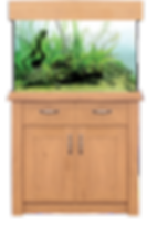 AquaOne Oak Style 145Aquarium & Cabinet