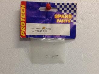 T0660.022 1/16 THRUST BALL 10PCS