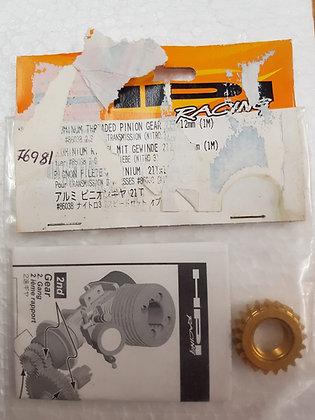 HPI 76981 ALUMINIUM THREADED PINION GEAR 21Tx12MM 1M 86038