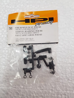 HPI 73430 MIRROR AND MUFFLER STAY SET MICRO RS4 SPARE PART FOR 72459  CONCOURS