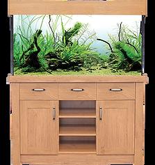 AquaOne Oak Style 230Aquarium & Cabinet