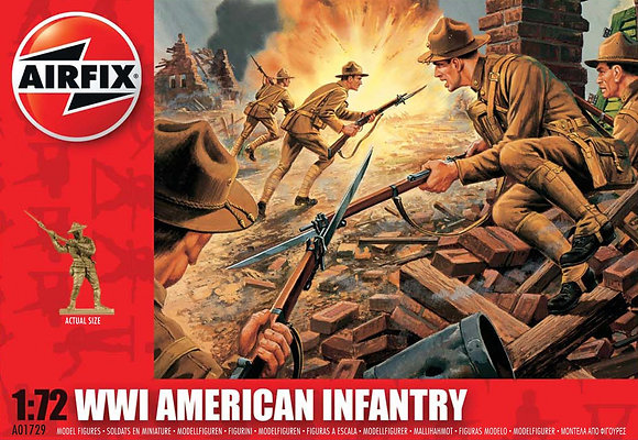 A01729 WWI American Infantry 1:72