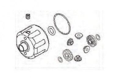 ANSMANN 115000216 Differential Case & Gear Set