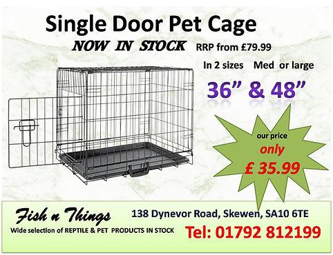 Single door pet Cage  only £35.99