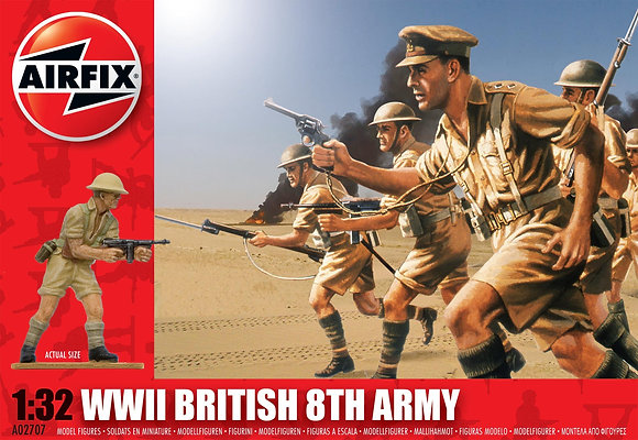 a02707 WWII British 8th Army 1:32