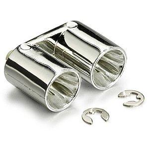 ANSMANN 201000115 Bodyshell Muffler Twin Pipe