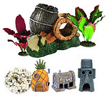 Aquarium decorations ornaments plants gravel pebbels rocks swansea neath wales port talbot