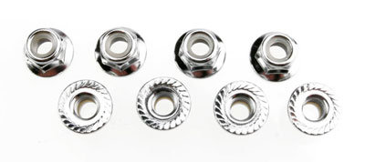 5147 Nuts, 5mm flanged nylon locking (steel) (8)