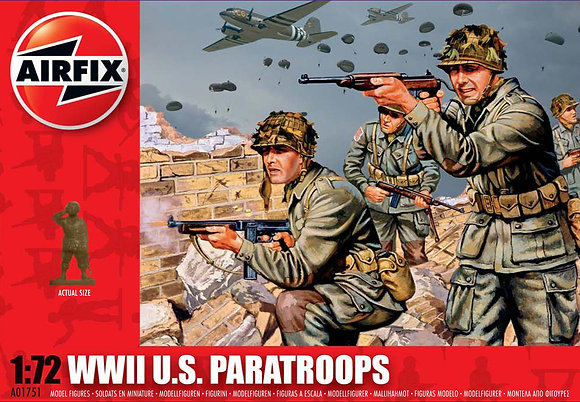 A01751 WWII U.S. Paratroops 1:72