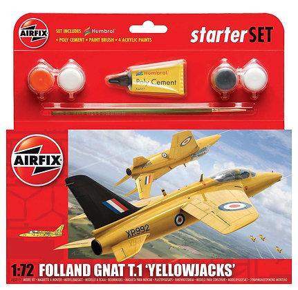 A55112 Folland Gnat 'Yellow Jacks' Starter Set 1:7