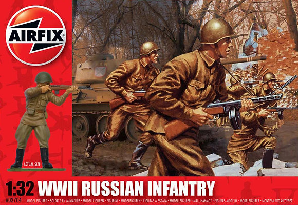 A02704 WWII Russian Infantry 1:32