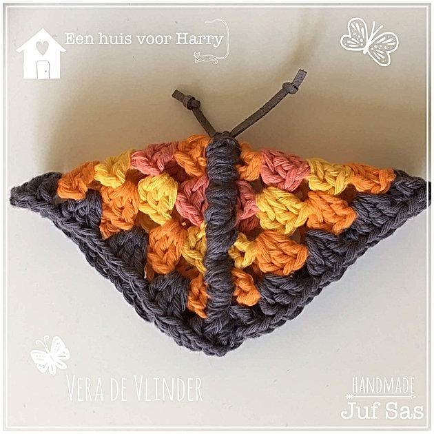 Vera Vlinder Uit Het Boek Een Huis Voor Harry Handmade By Juf Sas