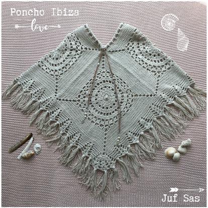 Poncho Ibiza handmade by juf Sas met gratis patroon