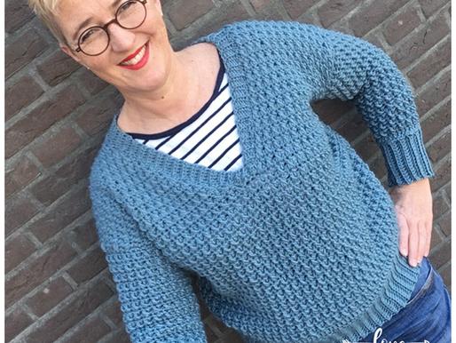 Trui Britt handmade by juf Sas met gratis haakpatroon