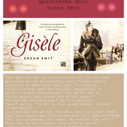 """Boekquote uit """"Gisèle"""" geschreven door Susan Smit"""