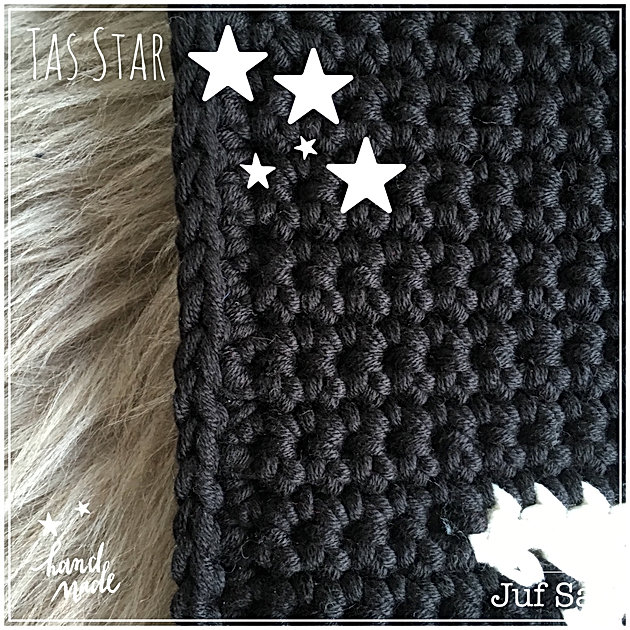 Uitzonderlijk Tas Star handmade by juf Sas met gratis patroon | Creatief #NB55