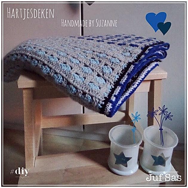 Gehaakte Hartjesdeken Handmade By Dochter Suzanne Creatief