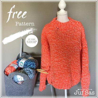 Trui Twister handmade by juf Sas met gratis breipatroon