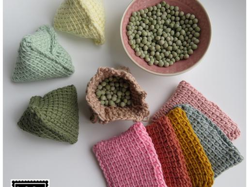 Tunisch gehaakte PIP BAG handmade by juf Sas