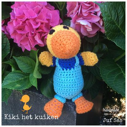 Kiki het kuiken handmade by juf Sas met gratis patroon