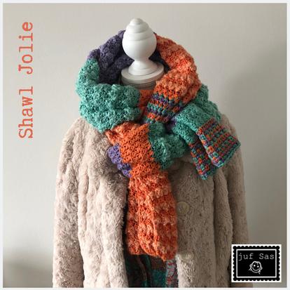 Haakpatroon shawl Jolie handmade by juf Sas
