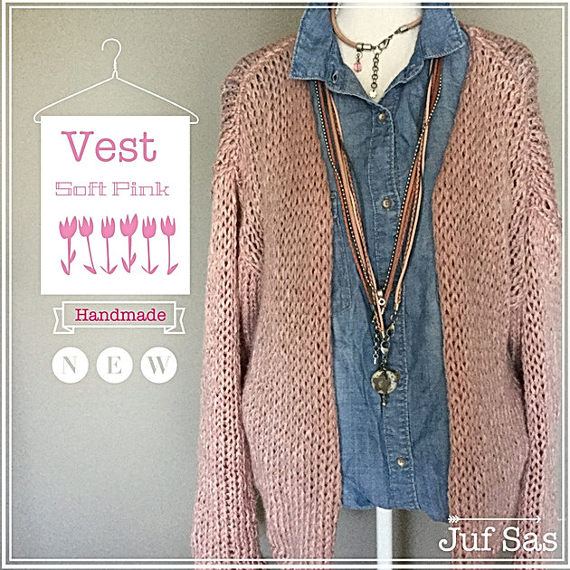 Vest Soft Pink Handmade By Juf Sas Met Gratis Patroon Creatief