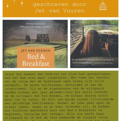 Boekquote uit 'Bed & Breakfast' geschreven door Jet van Vuuren