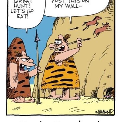 Zo begon het eigenlijk allemaal #muurtekeningen #early #Facebook