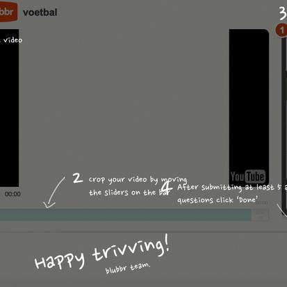 Blubbr.tv met allerlei fragmenten van YouTube een quiz maken